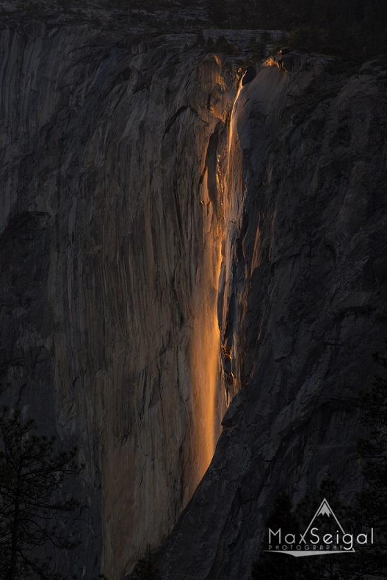 The spectacular Yosemite Firefall, which only occurs for a brief window of a few days each year if conditions are right.
