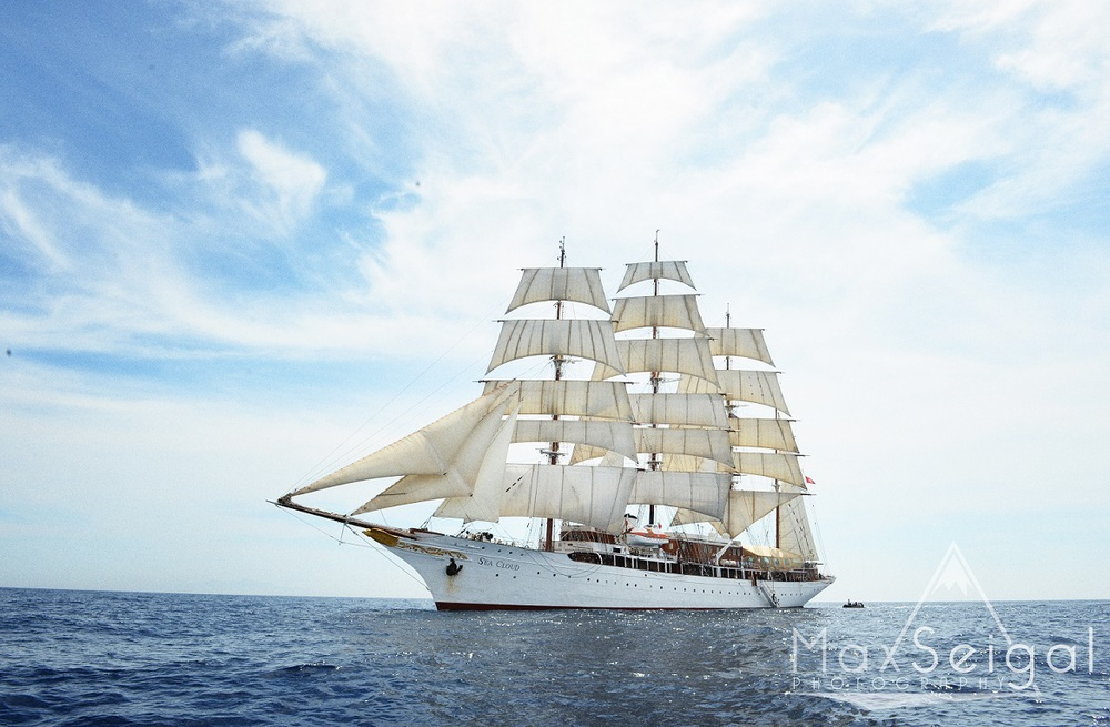 Beautiful Sea Cloud at full sail