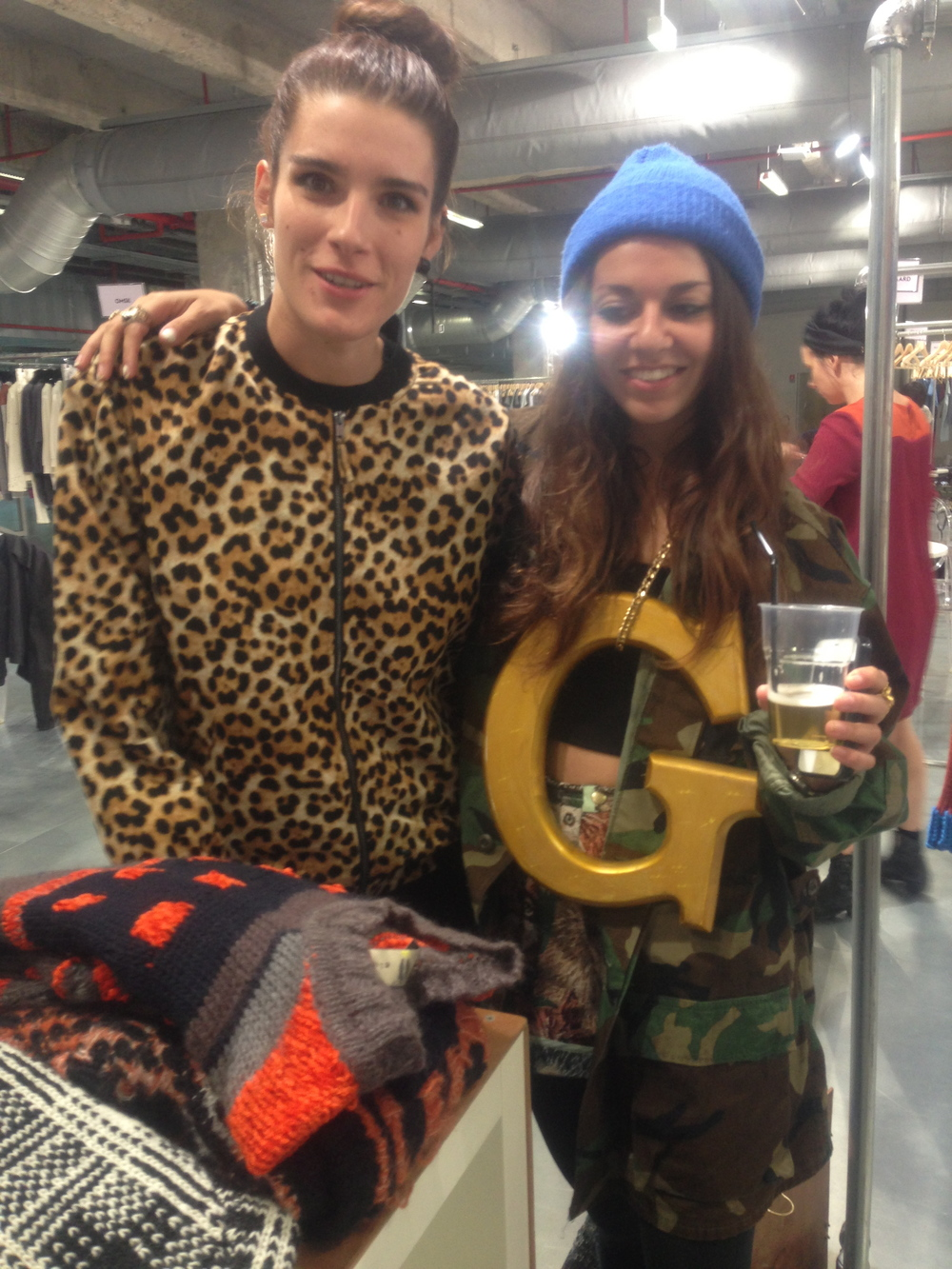 Giulia, of Farewell Footwear and our very own Giuliana, doing what she does best.