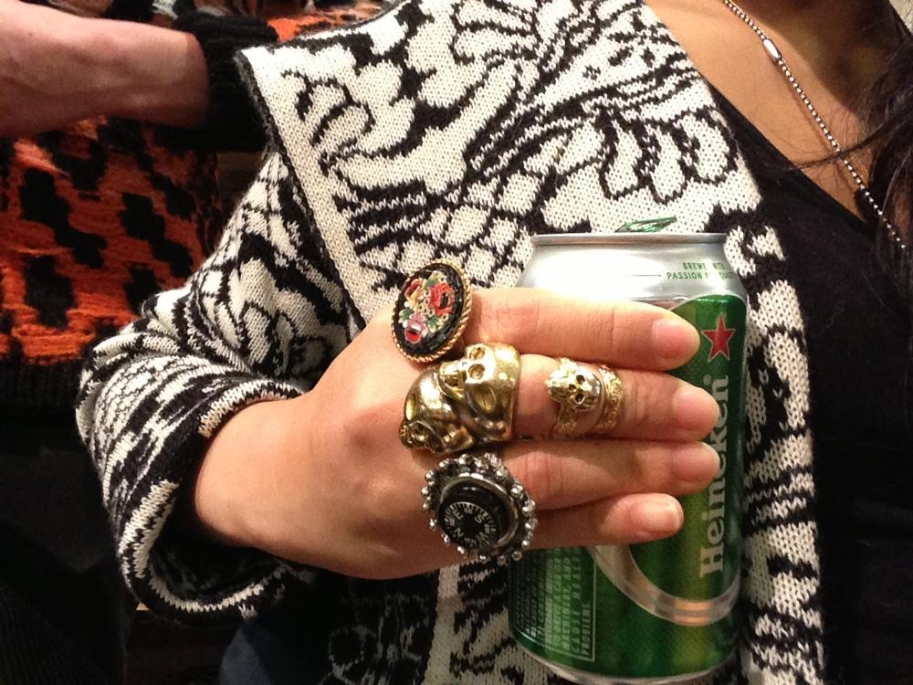 Jewelry, Sweaters, Beer