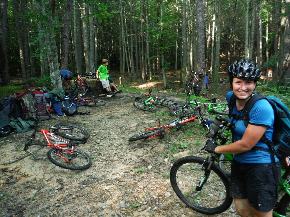 bikes at poverty creek.JPG