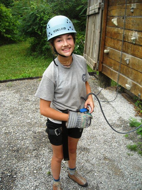 getting ready to climb at the wall.JPG
