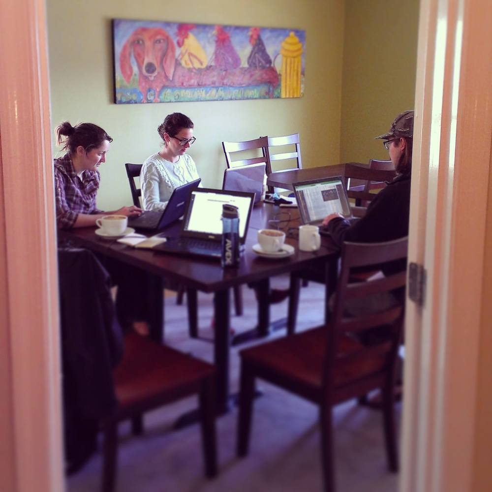 The WAEL staff put in many hours this winter to build the new website, many of which were spent at Sweet Donkey Coffee in Roanoke.  Thanks for making those long workdays possible!