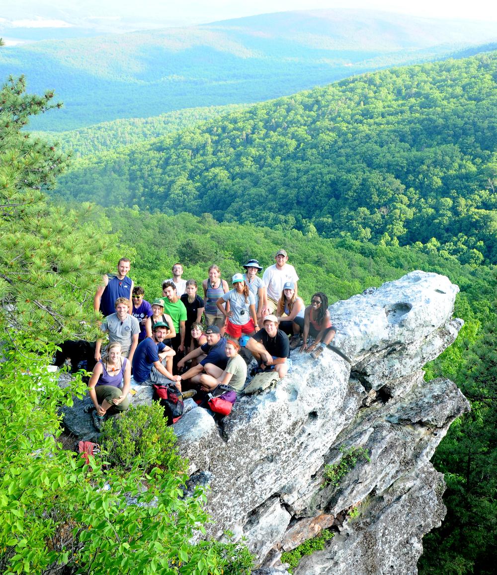 Rock Climbing and Orienteering Practice at Lignite Climbsite on Bald Mountain