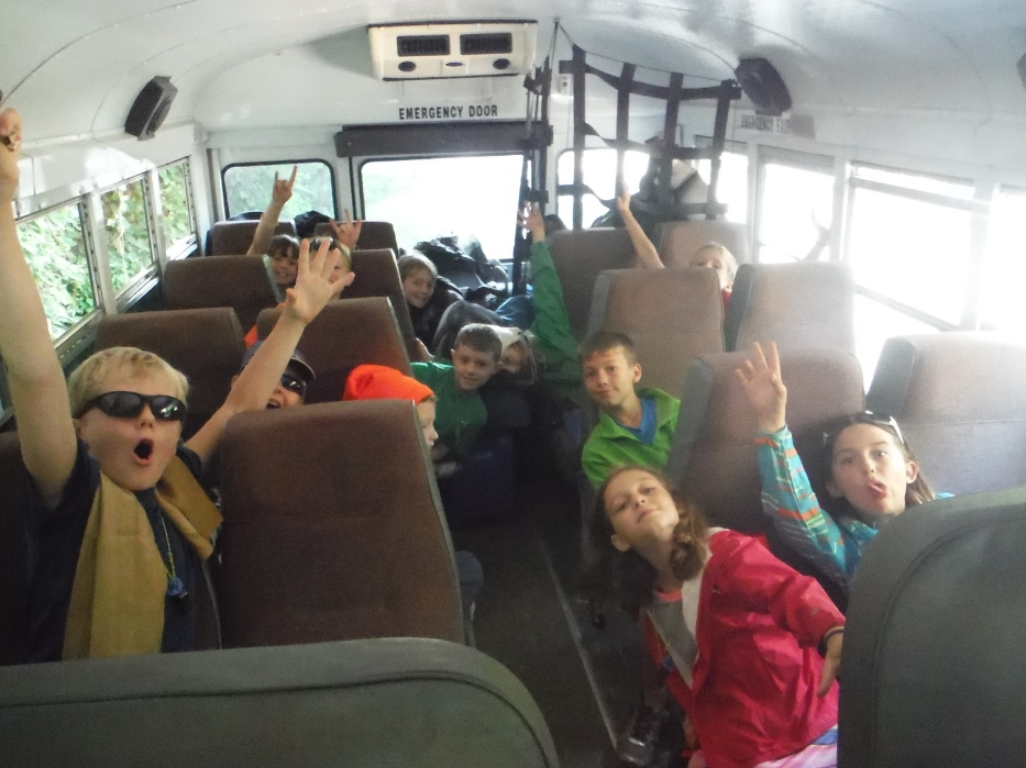 Our group and all our gear packed onto Bus 3!