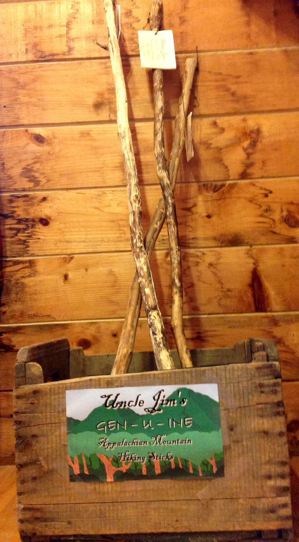Walking sticks made by famed Uncle Jim