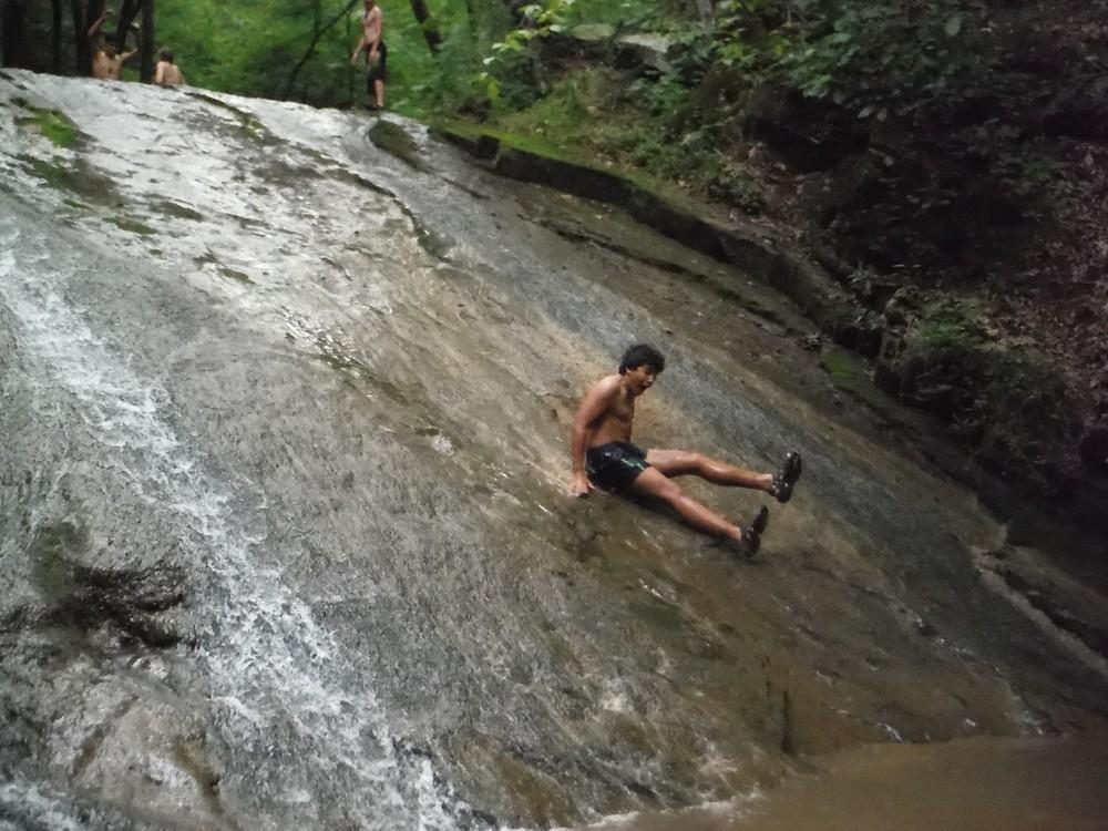 Roaring Run Natural Waterslide
