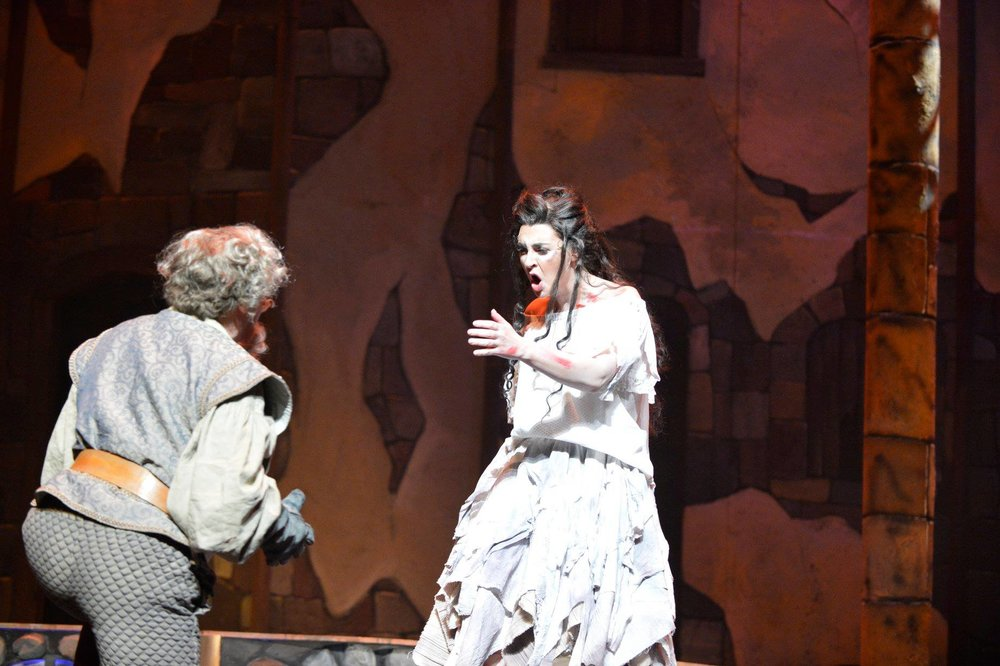 Aldonza in Man of La Mancha (Amarillo Opera) with Ron Raines. Photo by Ralph Duke.