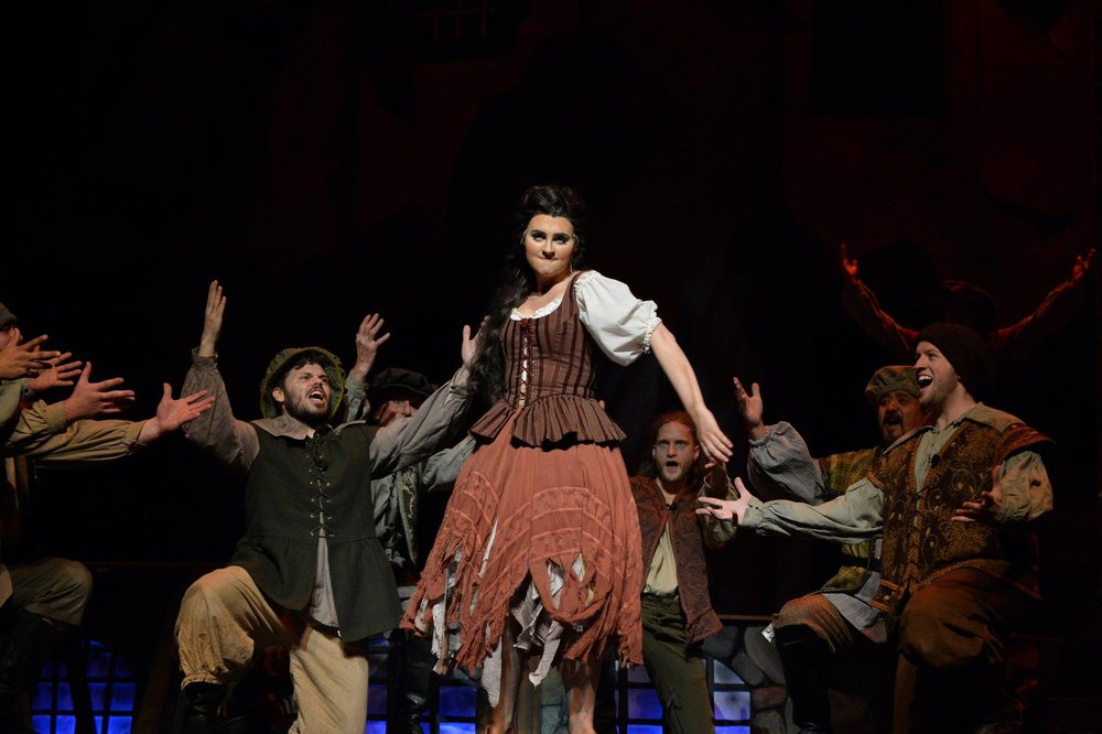 Aldonza in Man of La Mancha (Amarillo Opera). Photo by Ralph Duke.