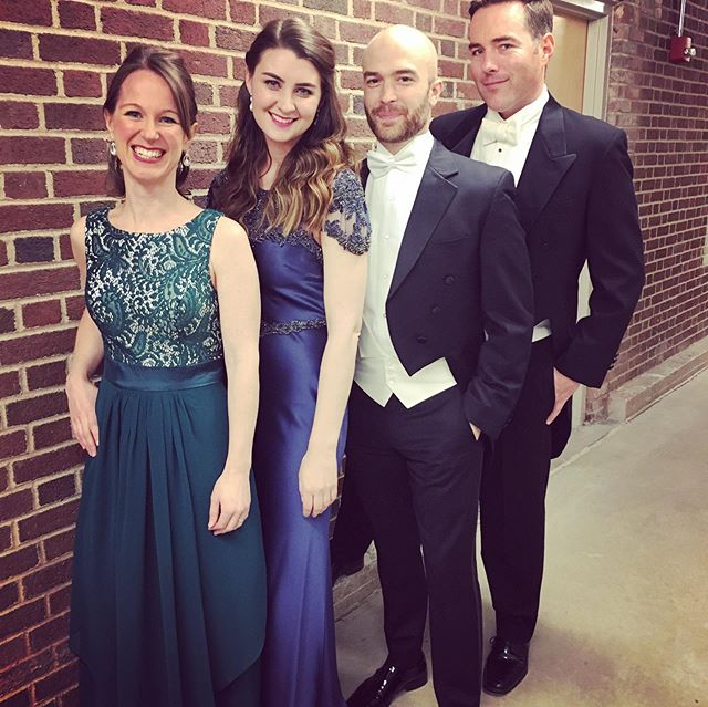 This weekend, I had the opportunity to sing my first Messiah! That's kind of a rite of passage for any classical singer, and I never really thought the day would come, but this amazing crew made me feel so welcome and supported. The holiday season has officially begun! Thank you @jtownsymphony1, @msuniversal2017_kristina2986 and @blachlyjames!! It was a true pleasure. 🎄💚