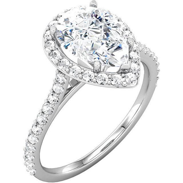 peardiamondringjpeg - Teardrop Wedding Rings