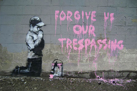"""Forgive Us Our Trespassing,"" Banksy"