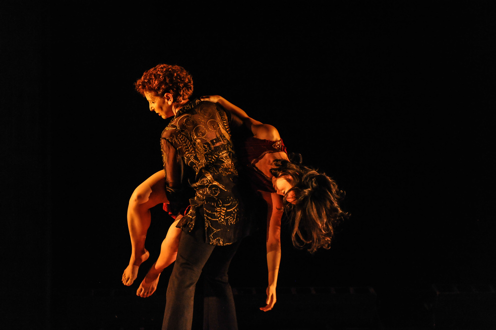 "Anne Bluethenthal and Chinchin Hsu in ""Forgiveness Project: Part One,"" ABD Productions, Photo by Anton Martynov"