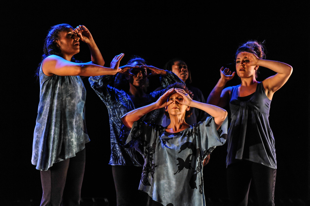"ABD Ensemble and vocalist Melanie DeMore in ""Forgiveness Project: Part One,"" ABD Productions, Photo by Anton Martynov"