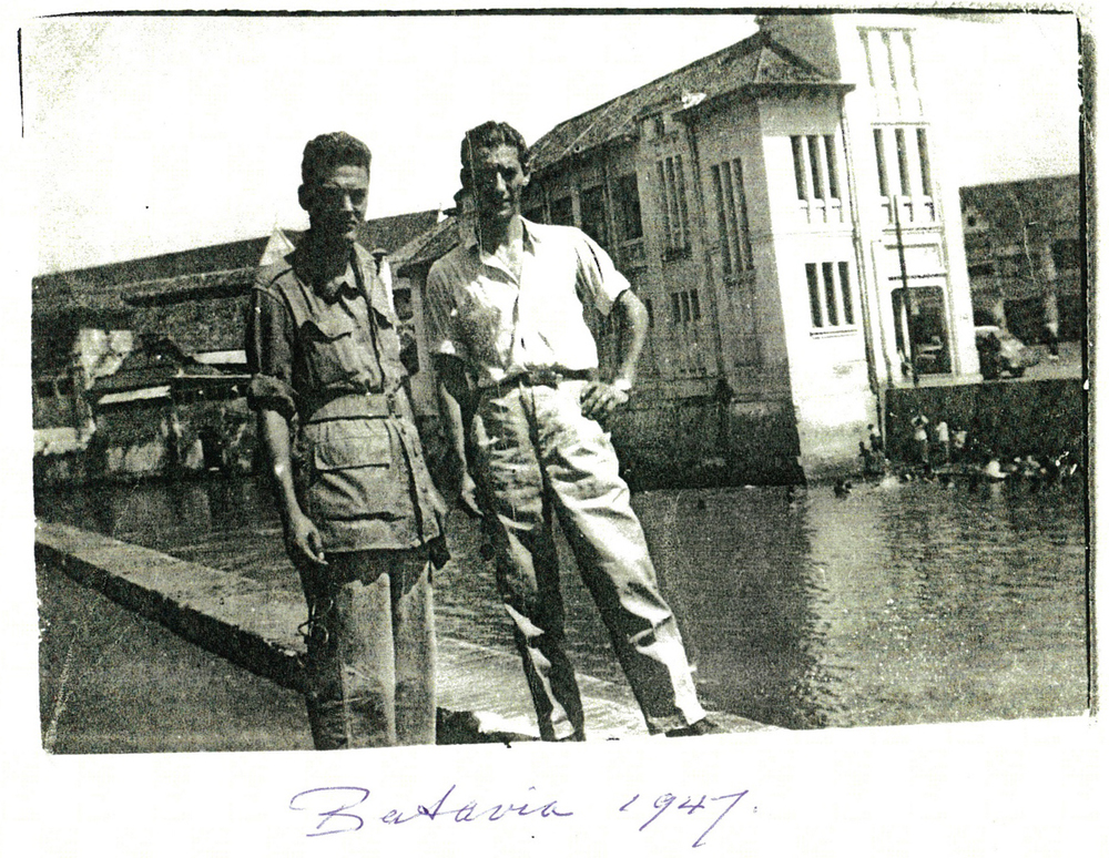 Harry in the Dutch Army, post-holocaust in Batavia, Dutch East Indies (now known as Jakarta, Indonesia).