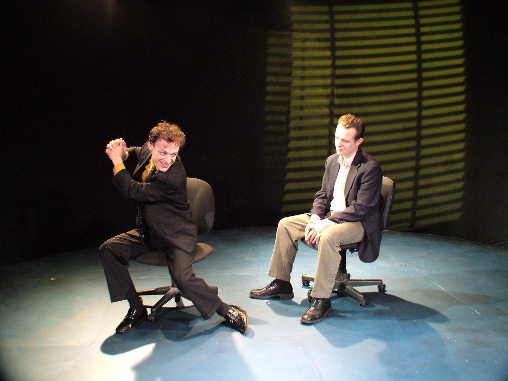 Matthew Trumbull and Tom Staggs as Caldwell and Gordon in When Is A Clock (2008)