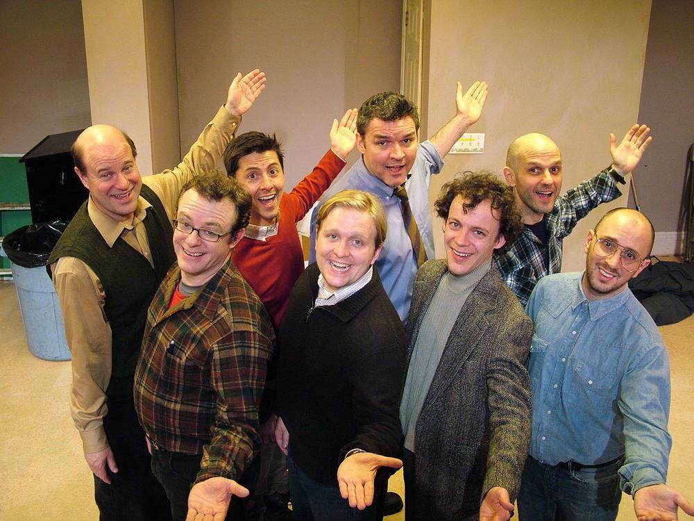 "Bruce Barton, Carter Jackson, Stephen Speights, Bob Buckwalter, Tom Staggs, David DelGrosso, Matthew Trumbull and Steve Burns in ""Glee Club"" (2010)"