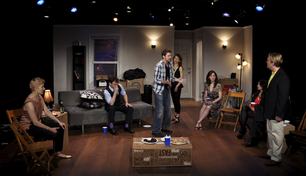 "Moira Stone, Matthew Trumbull, Andrew Schwartz, Susan Louise O'Connor, Marguerite Stimpson and David DelGrosso in ""Why We Left Brooklyn"" (2013)"
