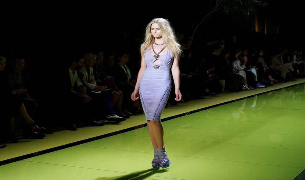 Versace dress straight from Versace Runway