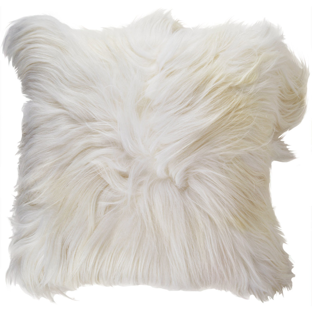 ADRIENNE LANDAU Lamb Fur Decorative Pillow $395