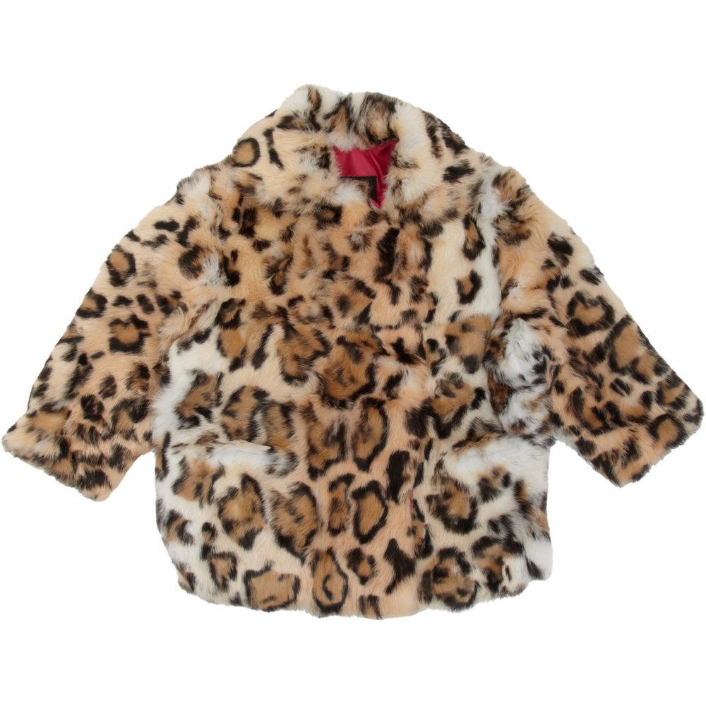 ADRIENNE LANDAU  Jaguar Print Coat $247 Sale