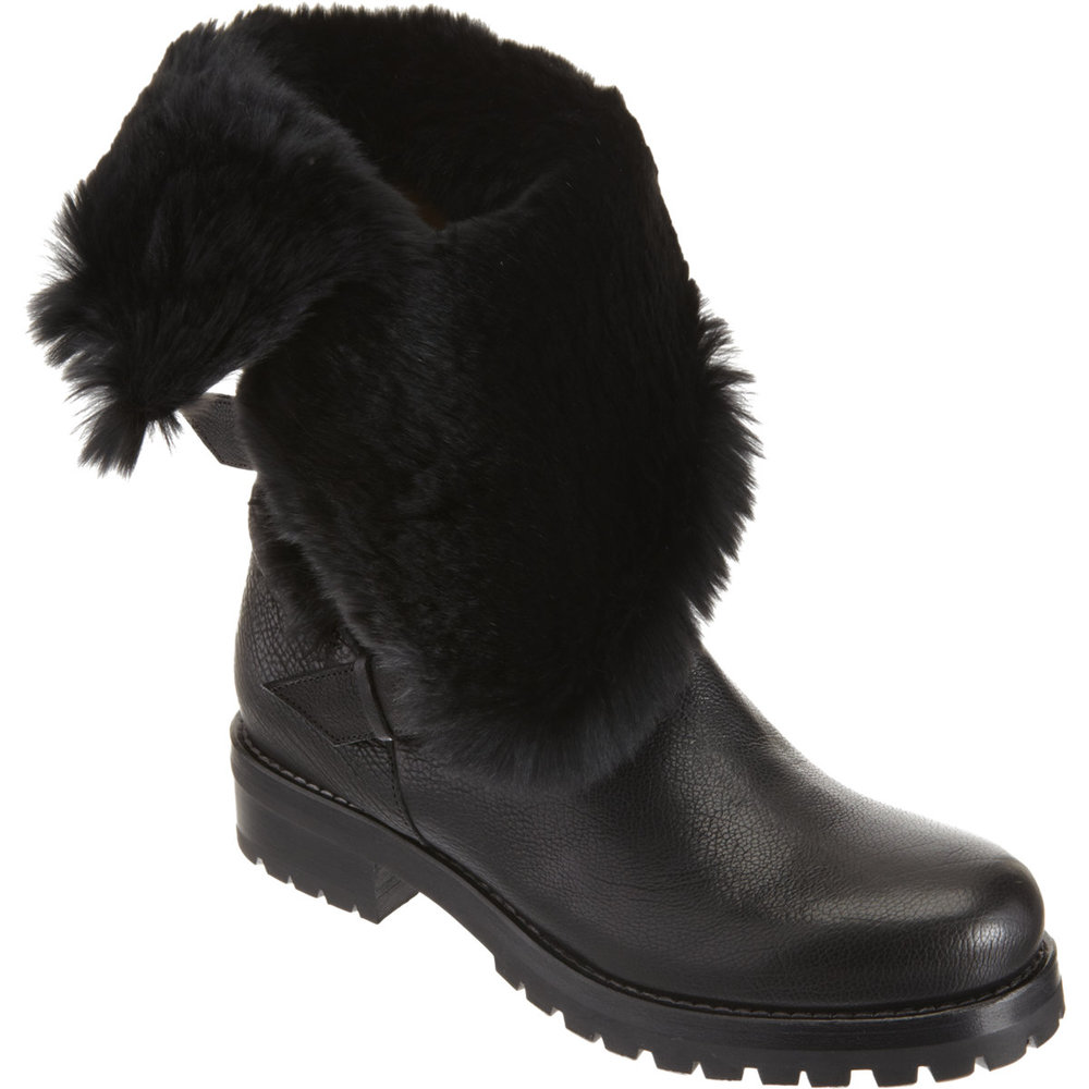 SARTORE Fur-Lined Moto Boot $1,210