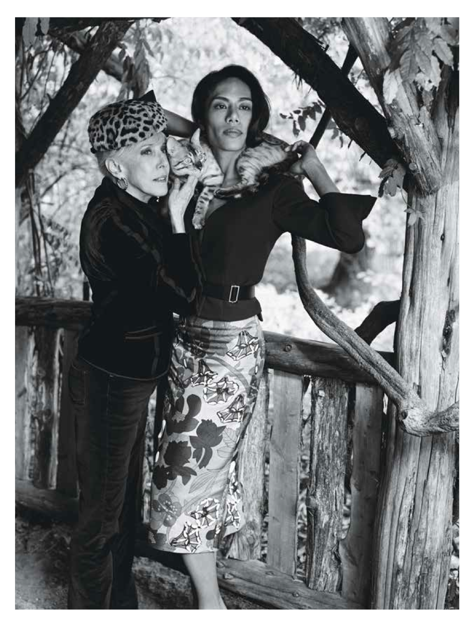 Dorothy Palmer, Coco and I in Central Park shot by Bruce Weber