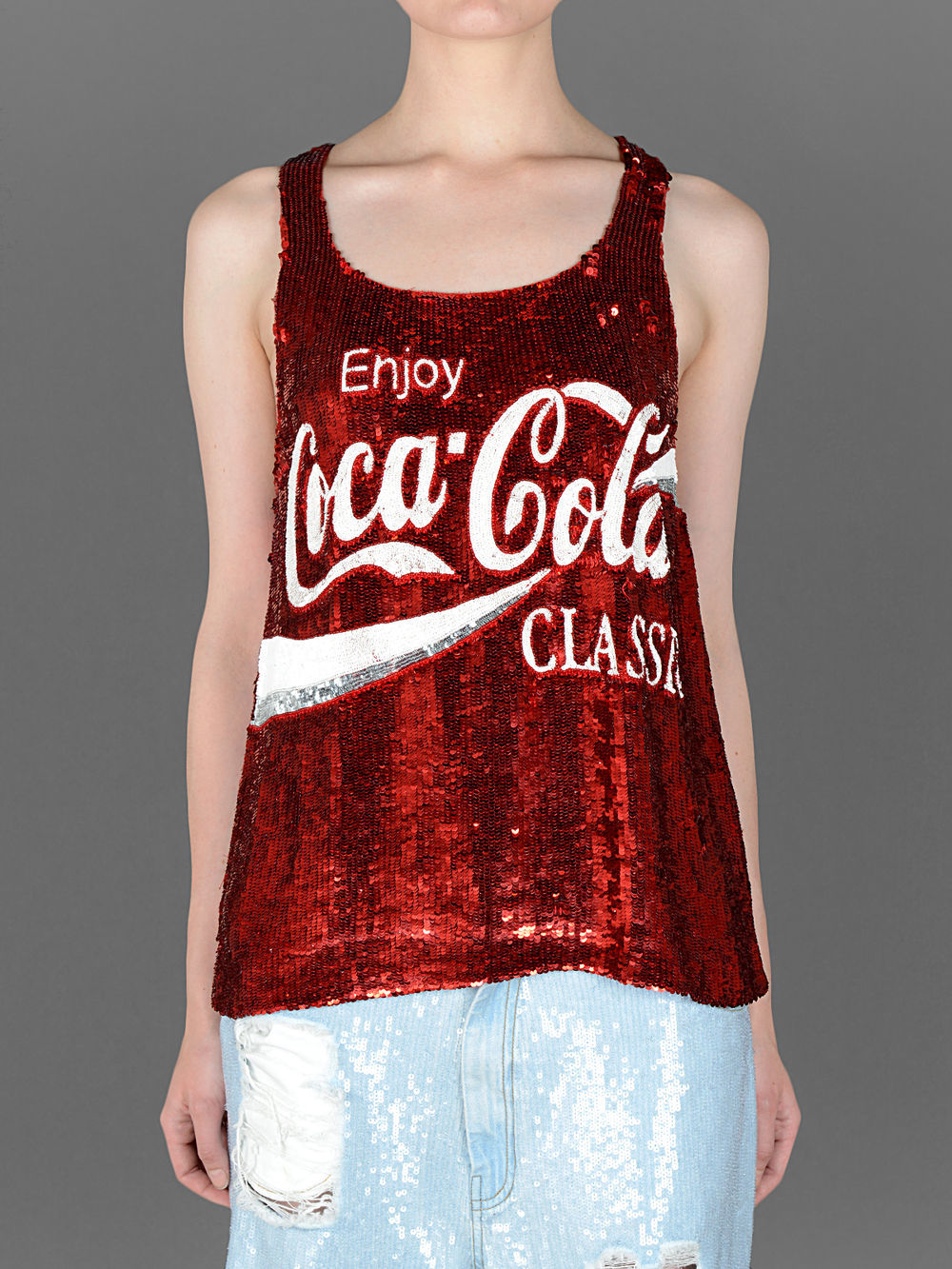 ASHISH COCA-COLA SEQUINS TANK TOP                                                                                                          PRICE €   621   You can get it here >>   ASHIN   <<   Click