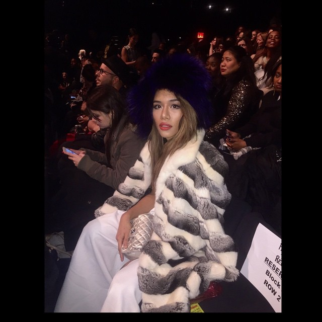 2nd row at the fashion shoow