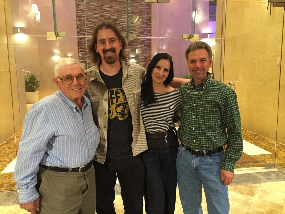 John Penton, Jack, Corinna, and Jack Penton headed to dinner with Director of the film, Todd Huffman.