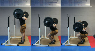 Back Squats at CrossFit Elevation