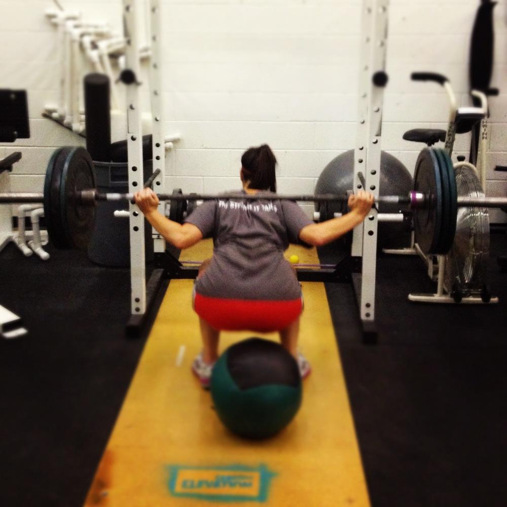 Rachel G PR back squat
