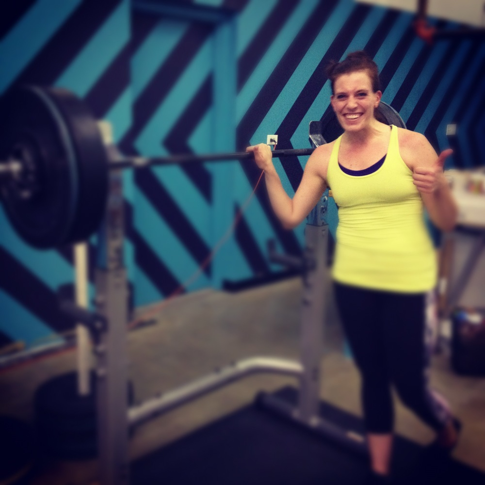 Laura G Smashing out a front squat PR