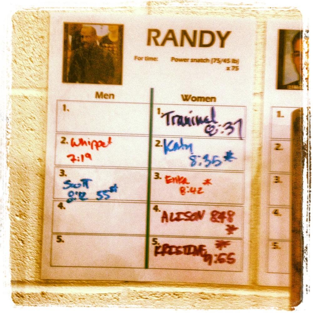 """Randy"" leaderboard"
