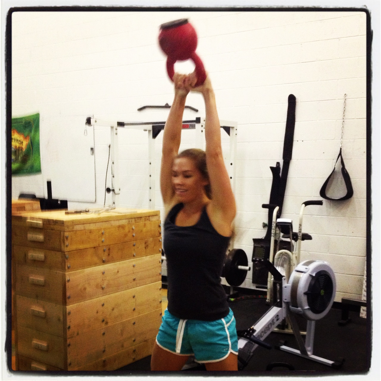 Alison - Kettlebell swings at 20kg