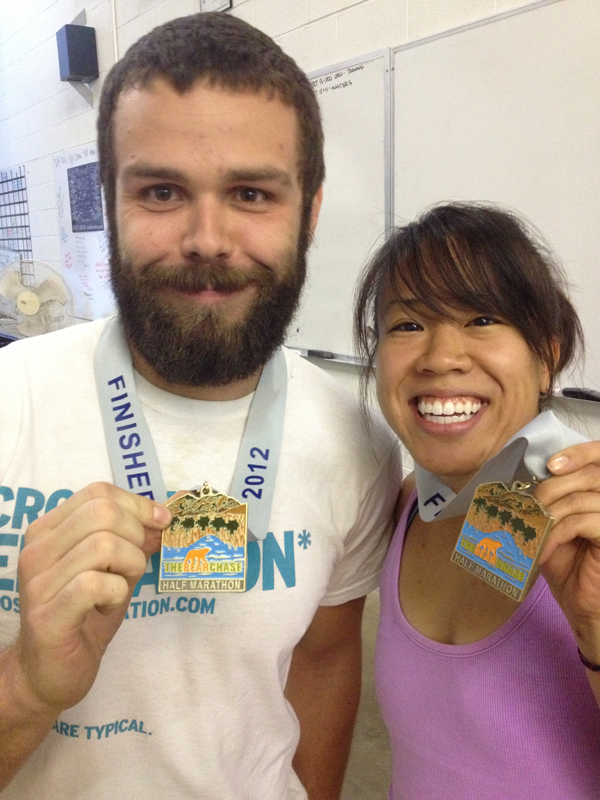 Tran and Steamer and their Bear Chase medals