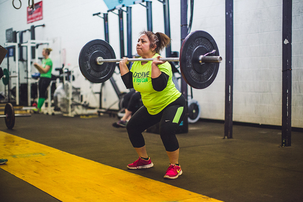 Crossfit Elevation Denver thrusters