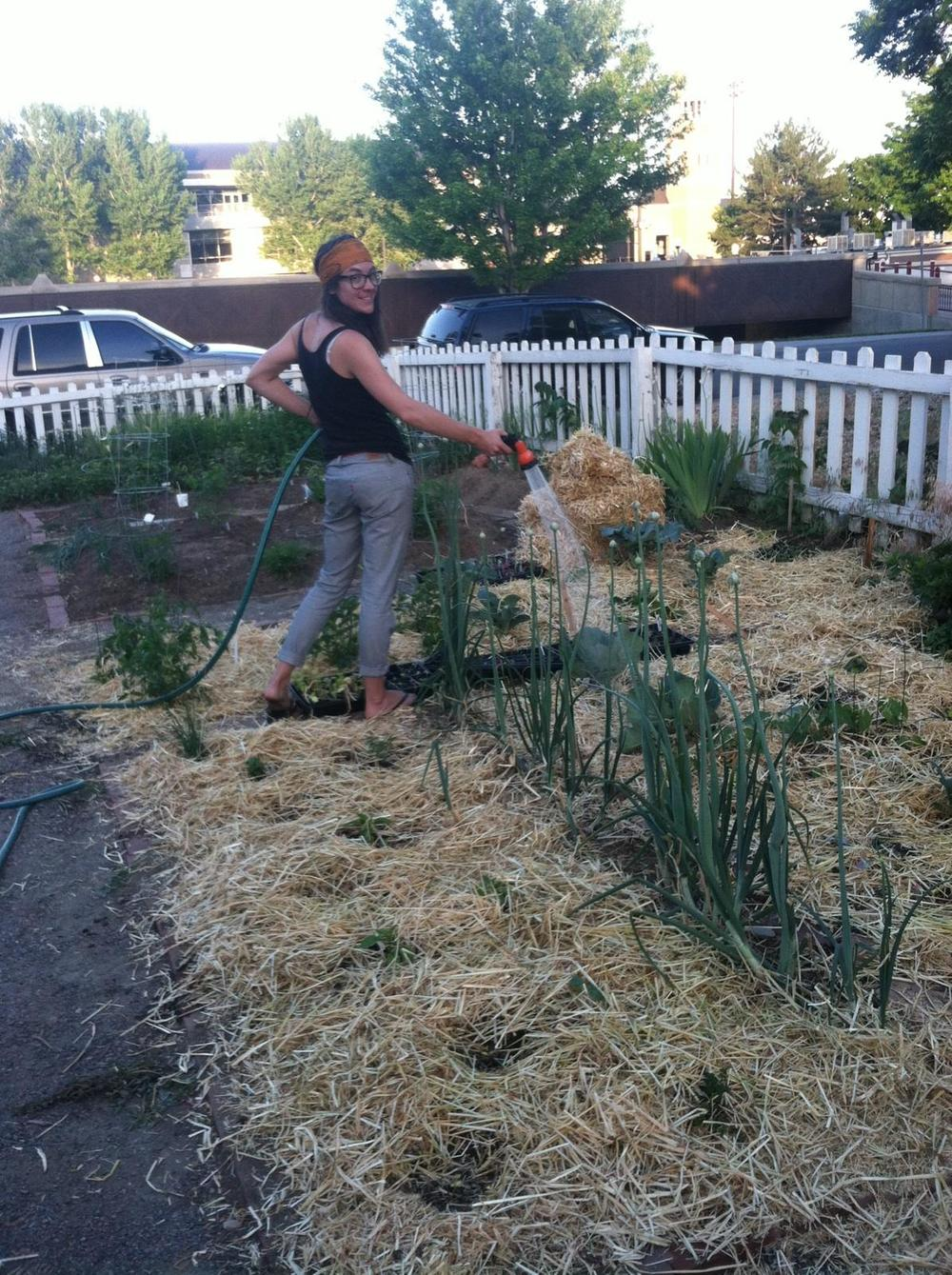Here's Sarah sharing a pic of her favorite activity outside of CrossFit: Gardening! Keep sending me your pictures everyone-We want to see you in action!