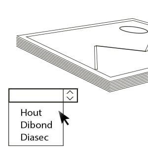 2)KIES DE AFWERKING - Bij een aankoop kunt u kiezen tussen 3 verschillende dragers.De afwerking in Diasec (acryl)is beperkt in oplages van 7 stuks.