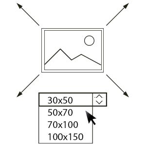 3)KIES HET FORMAAT - Met 4 opties van formaat vindt u voor elke vrije plek in het interieur een gepaste oplossing.