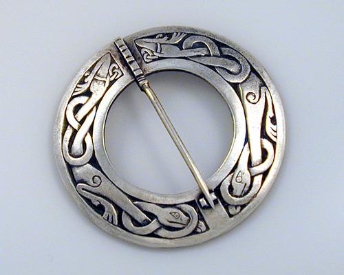 Celtic, circle brooch pin.