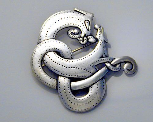 Viking, dragon brooch.