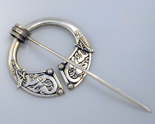 Tara brooch, with Celtic zoomorphic engraving.