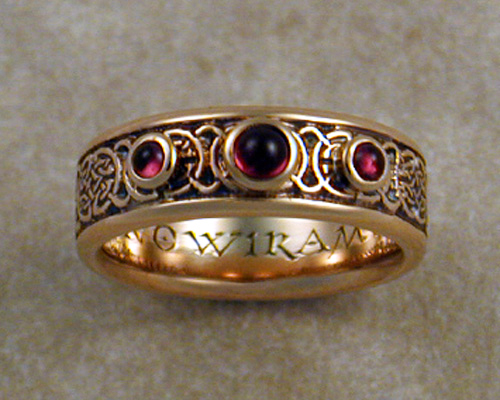 8th to 9th Century Celtic Wedding Band (6-mm wide)