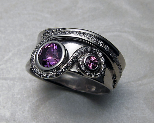 Very unusual engagement ring.