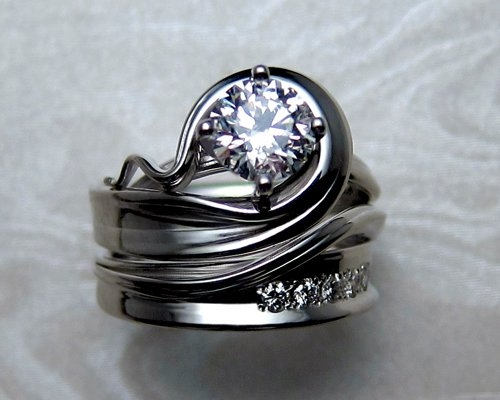 engagement creative wedding weddingelation funky mind attachment rings blowing