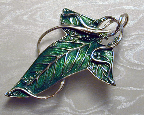 Custom Made Lord Of The Rings Leaf Pin Metamorphosis Jewelry