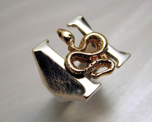 Custom made, Headstones ring.