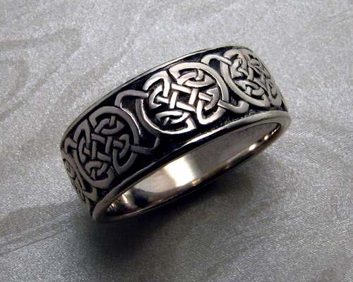 p trinity celtic silver cz ring knot sterling rings