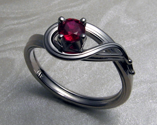 Engagement ring FF-Cu-1050